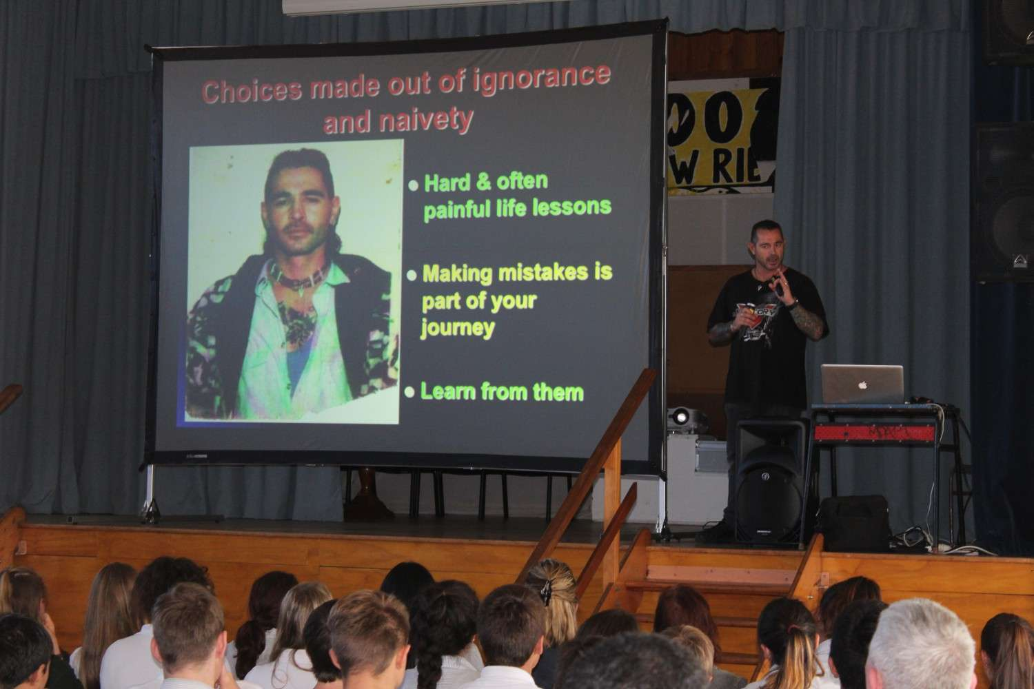 Pat Buckley visits Paeroa College