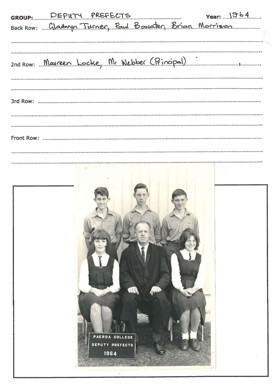1964 Deputy Prefects