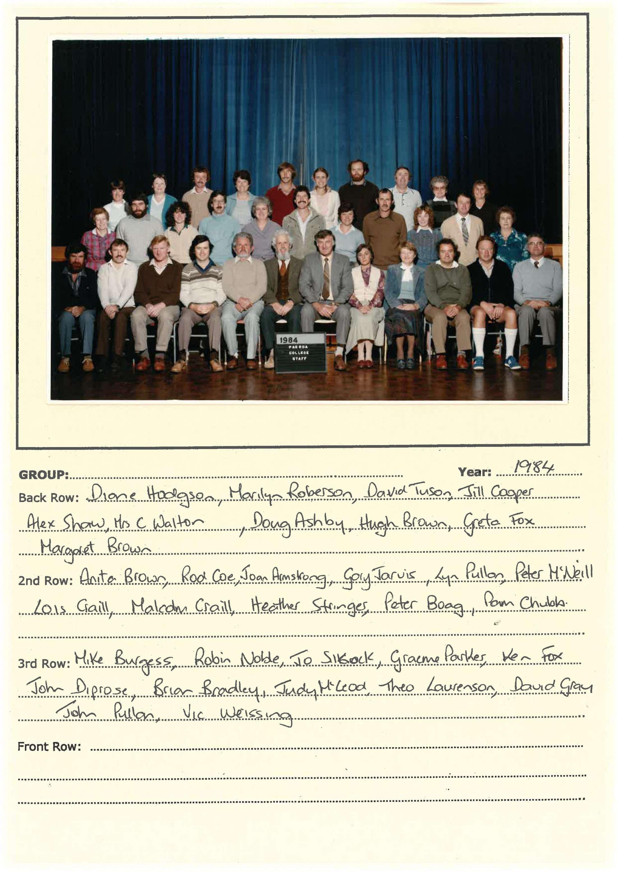 1984 Staff