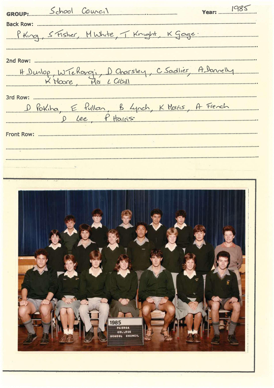 1985 School Council