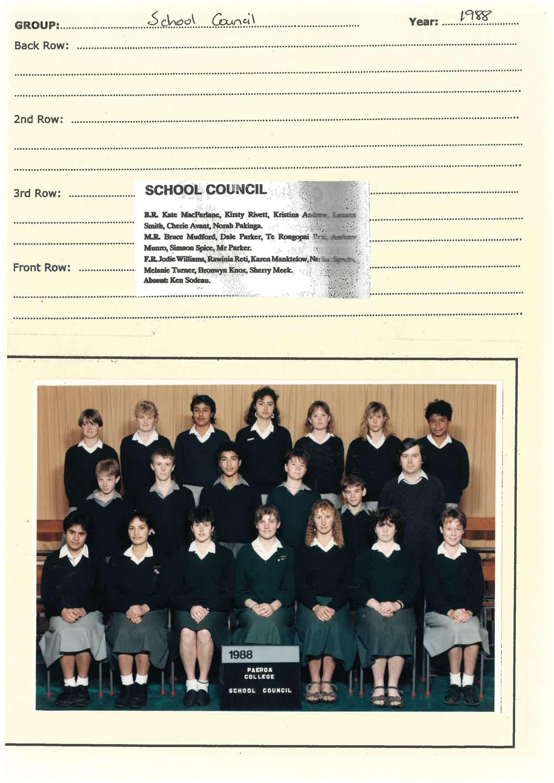 1988 School Council