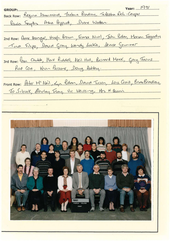 1991 Staff
