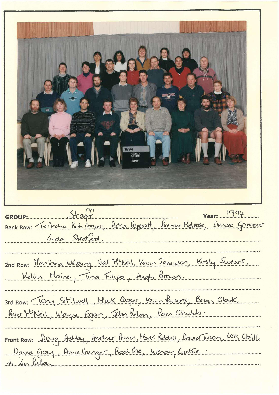 1994 Staff