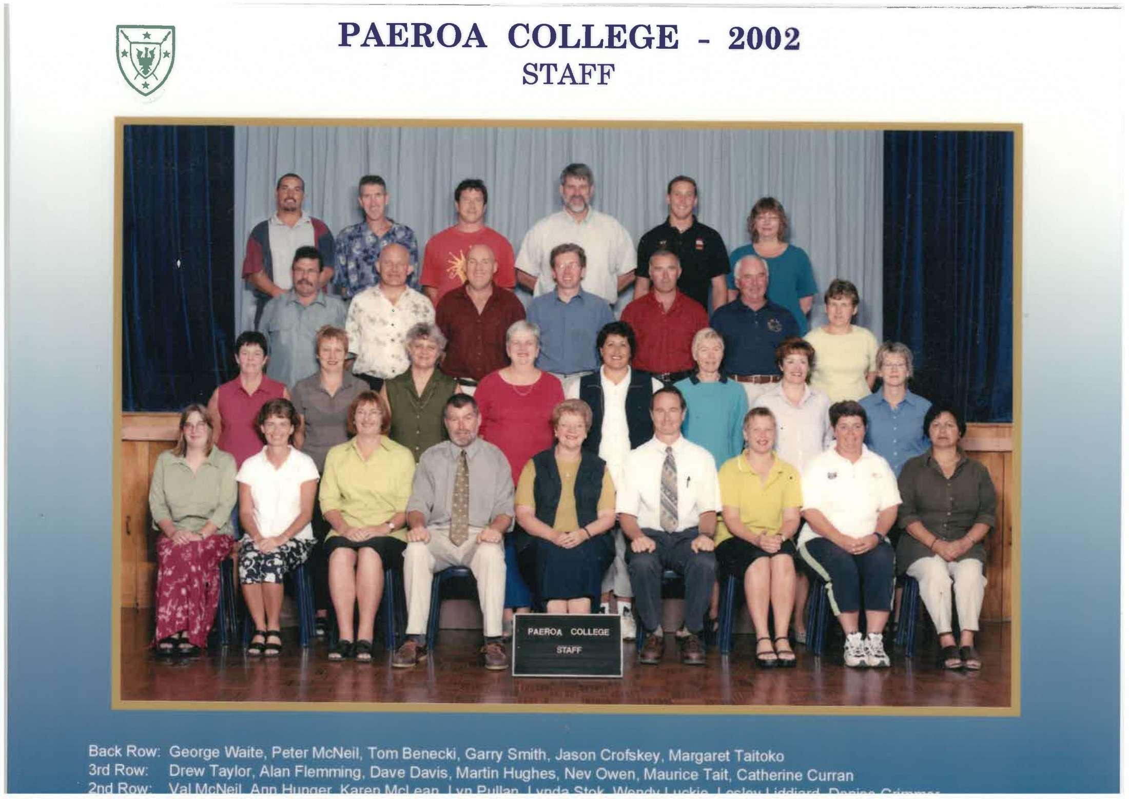2002 Staff