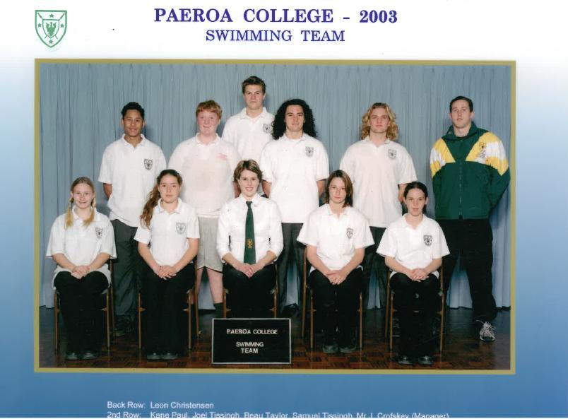 2003 Swim Team