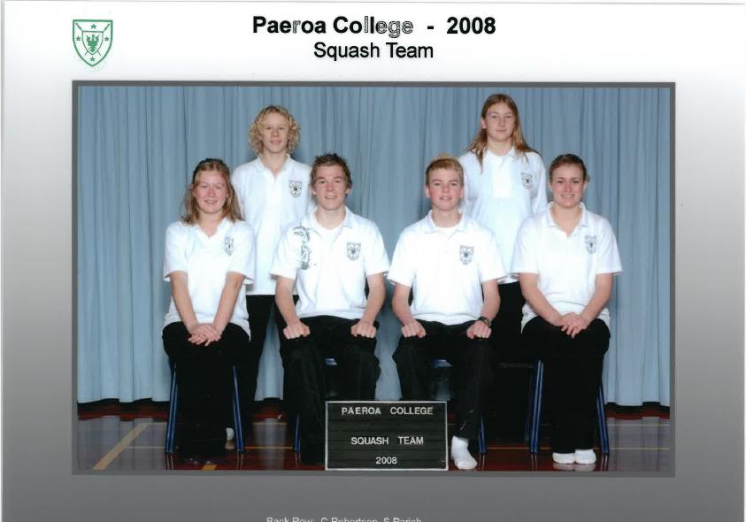 2008 Squash Team