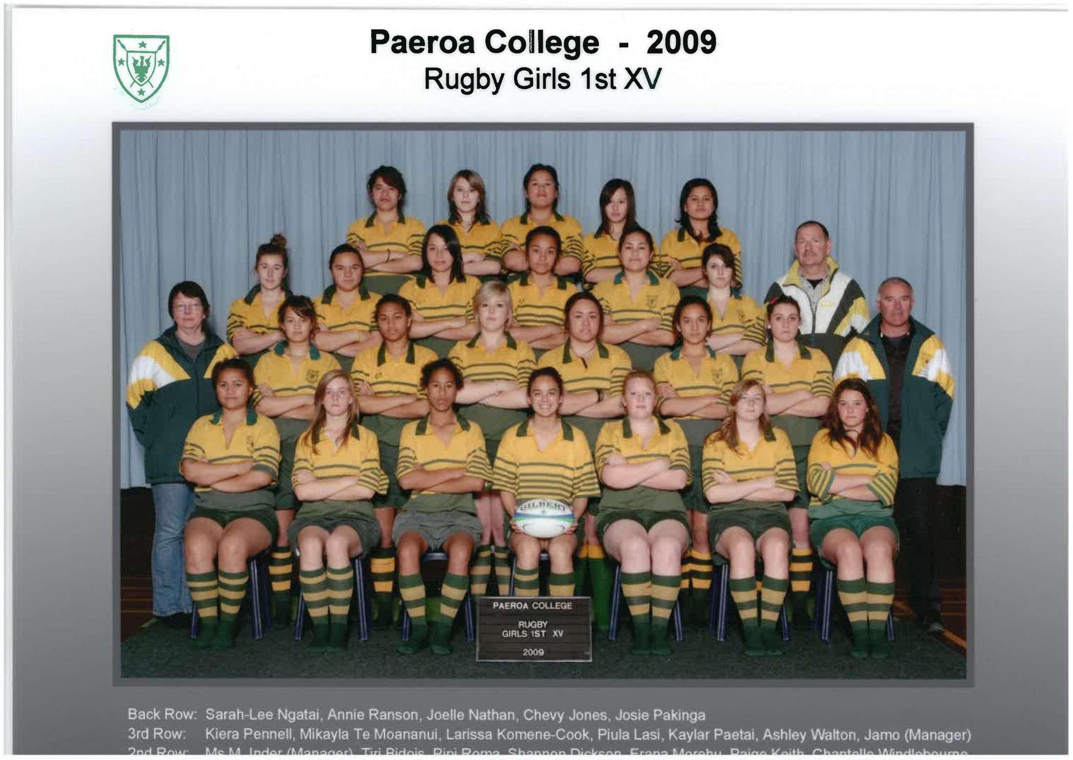 2009 Girls 1st Xv