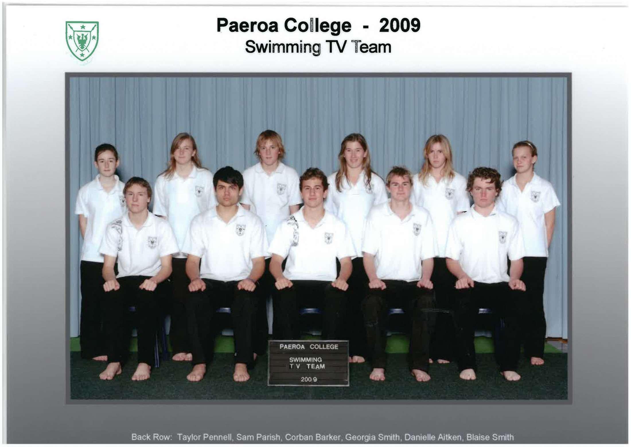 2009 Swim Team