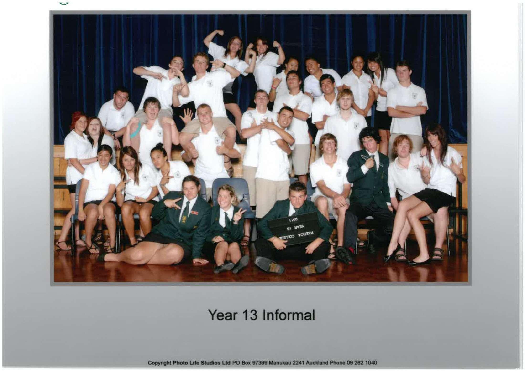 2011 Yr 13 Informal