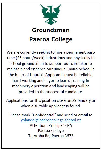 Groundsman Advert