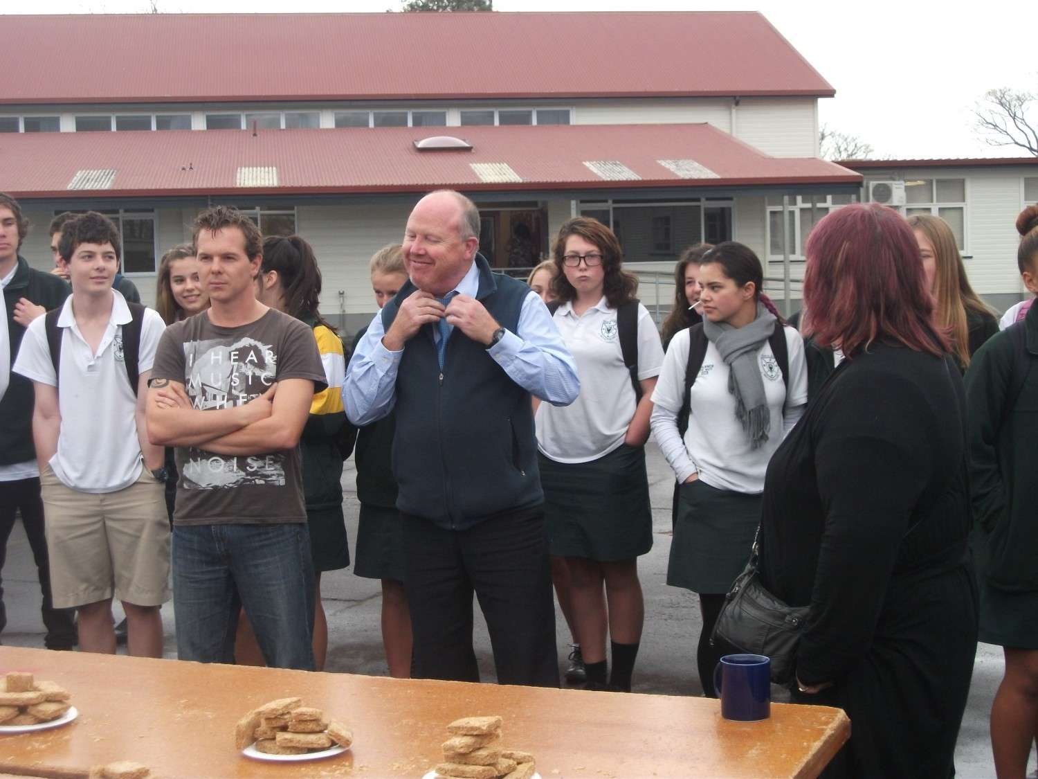 Eating competition - Staff vs Students