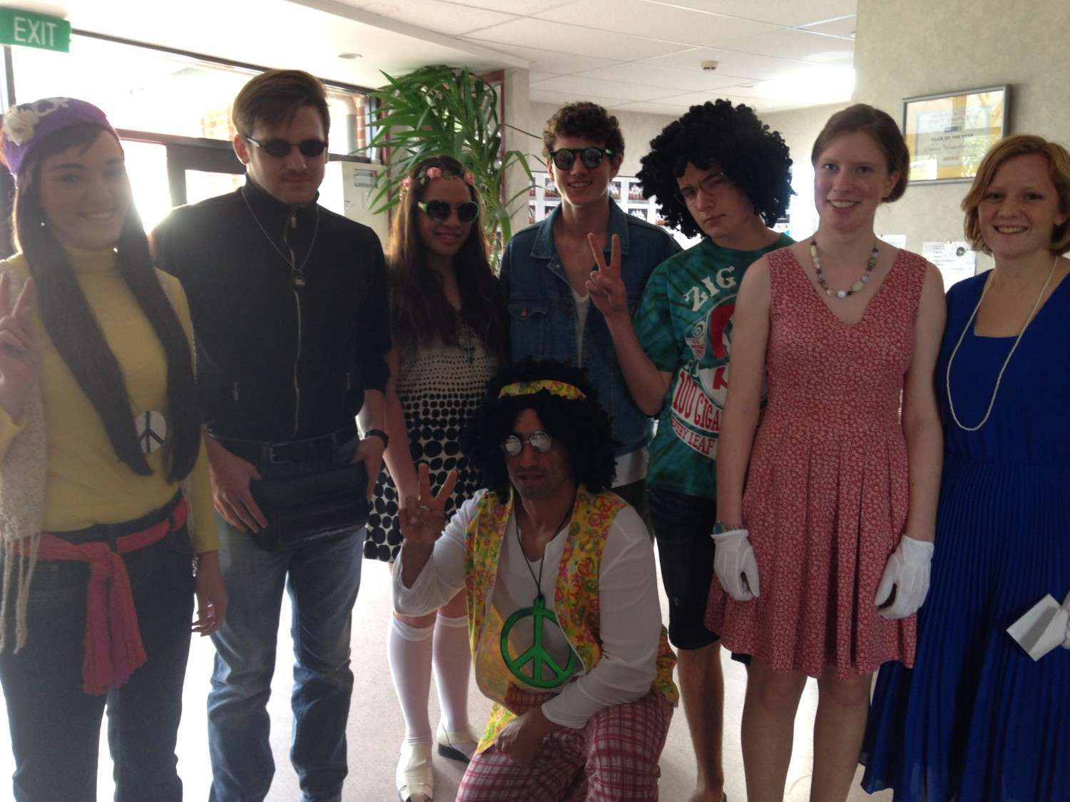 Year 13's 60's theme mufti day
